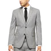 JF J. Ferrar® Black White Chevron Slim-Fit Jacket