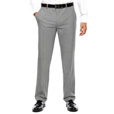 Men's JF J. Ferrar® Black White Chevron Flat-Front Slim Fit Pants