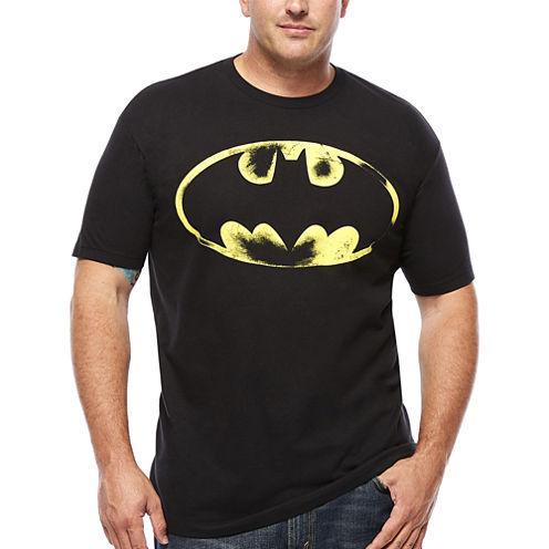 Bioworld Batman Distressed Logo T-Shirt- Big & Tall