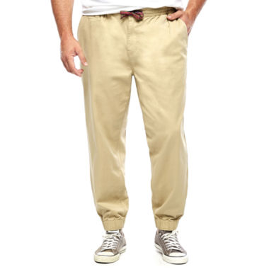 jcpenney.com | The Foundry Big & Tall Supply Co.™Stretch Flat-Front Twill Jogger Pants