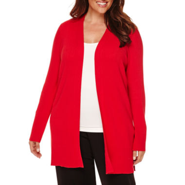 jcpenney.com | Liz Claiborne® Long-Sleeve Open Cardigan - Plus