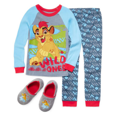 jcpenney.com | Disney Collection The Lion Guard 2-Pc. Cotton Pajama Set or Slippers - Boys