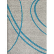 World Rug Gallery Florida Curves Shag Rectangle Rug