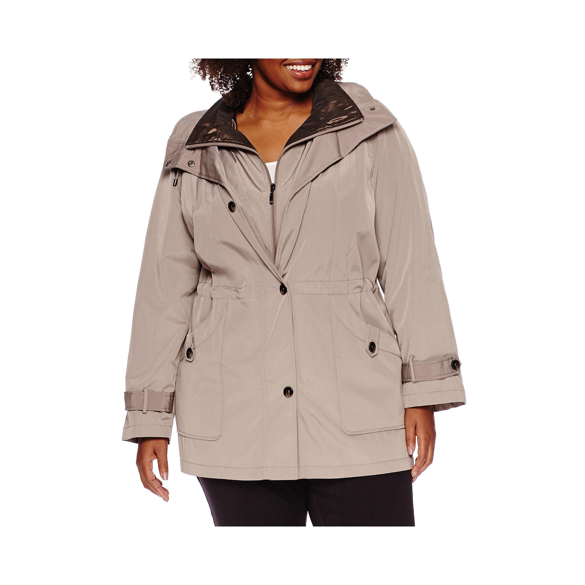 Miss Gallery Anorak Stadium Coat - Plus plus size,  plus size fashion plus size appare