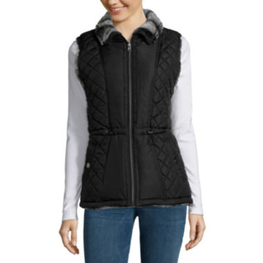 jcpenney.com | KC Collections Faux Fur Reversible Quilted Vest
