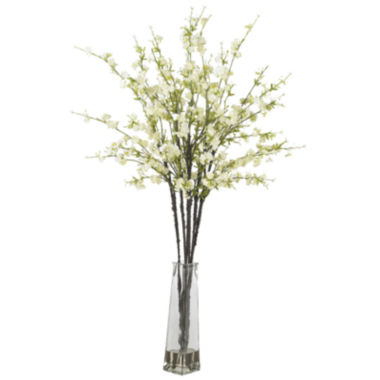 jcpenney.com | Nearly Natural Cherry Blossoms Silk Flower Arrangement With Vase