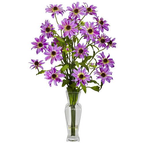 Cosmos With Vase Silk Flower Arrangement