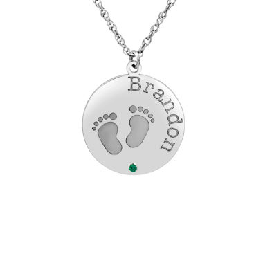 jcpenney.com | Womens Personalized Sterling Silver Pendant Necklace