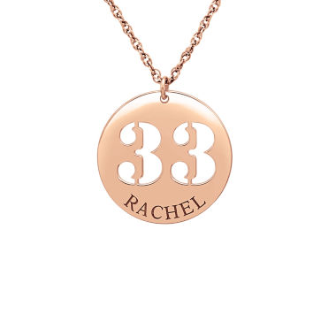 jcpenney.com | Womens Personalized 14K Gold Pendant Necklace