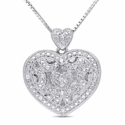 Womens diamond accent white diamond sterling silver pendant womens diamond accent white diamond sterling silver pendant necklace aloadofball Choice Image