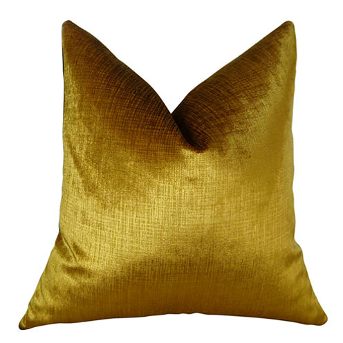 Plutus Lumiere Bronze Handmade Throw Pillow