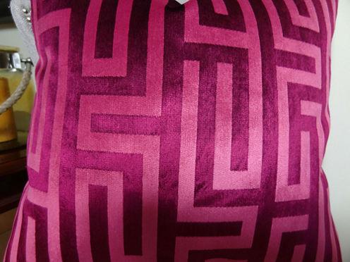 Plutus Cesire Velvet Maze Handmade Throw Pillow