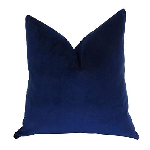 Plutus Navy Handmade Throw Pillow