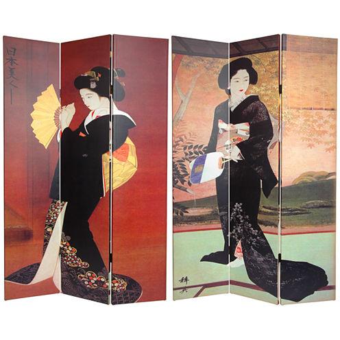 Oriental Furniture 6' Japanese Ladies Room Divider