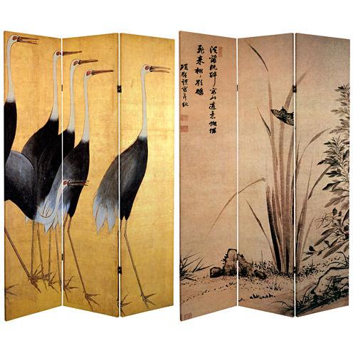 Oriental Furniture 6' Cranes Room Divider