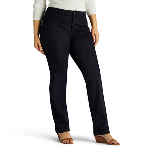 Lee Twill Flat Front Pants-Plus