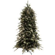 Pre-Lit Flocked Pine Christmas Tree Collection