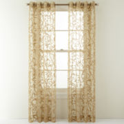 Royal Velvet® Brookfield Grommet-Top Sheer Curtain Panel