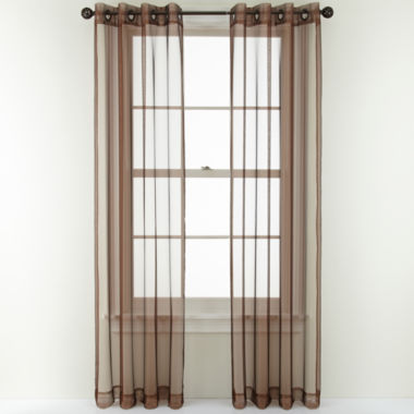 jcpenney.com | Studio™ Open and Shut Grommet-Top Sheer Panel