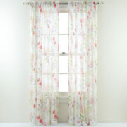 Wildflower Rod-Pocket Semi-Sheer Curtain Panel