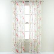 Wildflower Rod-Pocket Semi-Sheer Curtain Panel