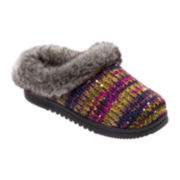 Dearfoams® Space-Dyed Sweater-Knit Clog Slippers