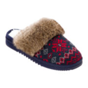 Dearfoams® Sweater-Knit Clog Slippers