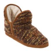 Dearfoams® Textured Knit Boot Slippers