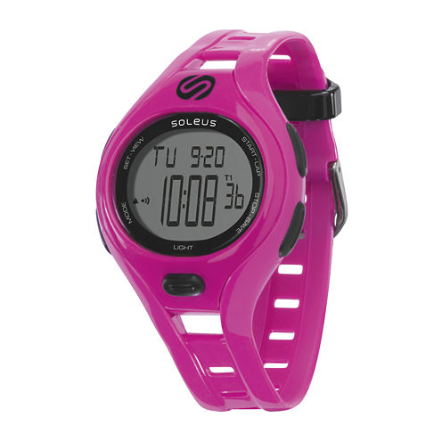 Soleus Womens Dash 30-Lap Pink Strap Sport Watch
