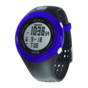 Soleus Womens GPS Fit Black/Blue Strap Chronograph Watch