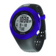 Soleus Womens GPS Fit Black/Blue Strap Chronograph Watch