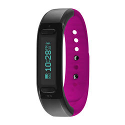 Soleus Womens Go Fitness Band Black/Pink Strap Sport Watch
