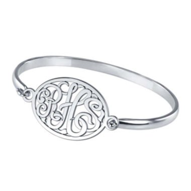 jcpenney.com | Personalized Sterling Silver Monogram Bangle