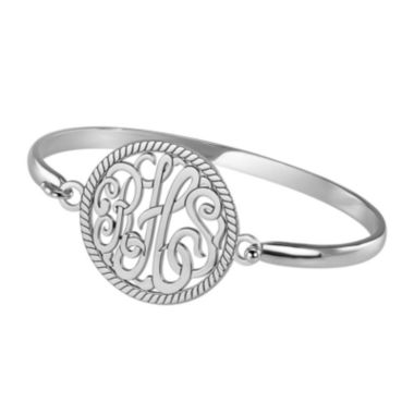 jcpenney.com | Personalized Sterling Silver 28mm Monogram Bangle