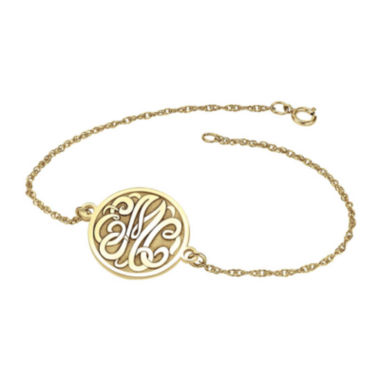jcpenney.com | Personalized 10K Gold Over Sterling Silver Monogram Bracelet