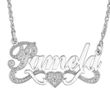 jcpenney.com | Personalized Diamond-Accent Sterling Silver Nameplate Necklace