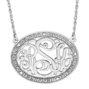 Sterling Silver Family Name and Monogram Necklace