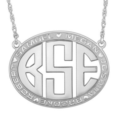 jcpenney.com | Personalized Sterling Silver Family Name and Monogram Necklace