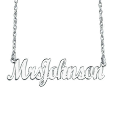 "jcpenney.com | Personalized Sterling Silver ""Mrs"" Name Necklace"