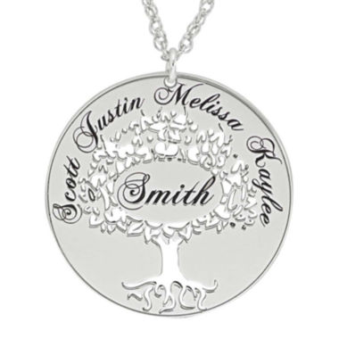 jcpenney.com | Sterling Silver Family Tree Name Pendant Necklace
