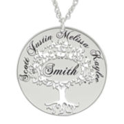 Sterling Silver Family Tree Name Pendant