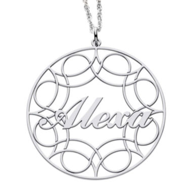 jcpenney.com | Personalized Sterling Silver Name Pendant Necklace