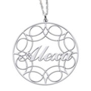 Sterling Silver Name Pendant Necklace