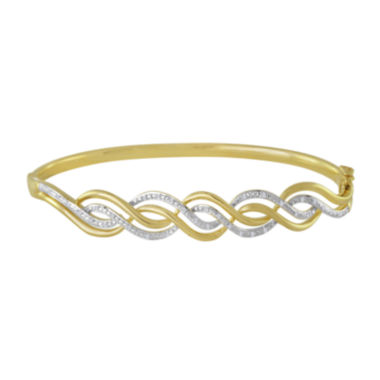 jcpenney.com | 1/10 CT. T.W. Diamond Swirl Bangle