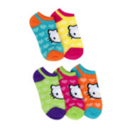 Hello Kitty® 5-pk. Hearts No-Show Socks - Girls