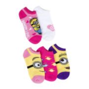 Despicable Me 5-pk. No-Show Socks - Girls