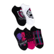 Monster High 5-pk. No-Show Socks - Girls