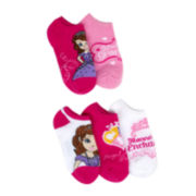 Sophia 5-pk. No-Show Socks - Girls