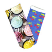 Sole Options Cupcake 2-pk. Low-Cut Socks - Girls