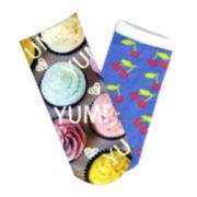 Sole Options Cupcake 2-pk. Low-Cut Socks - Girls